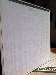 """Saatchi Art Artist marion elliott; Painting, """"White Noise"""" #art"""
