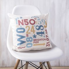 Personalised Coordinates Cushion - new home gifts
