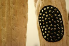 DIY: Studded Elbow Patches