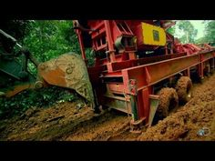 Catch all new episodes of GOLD RUSH Fridays at The Hoffman crew attempts to navigate their massive trommel up a steep, muddy hill in South America. Gold Rush, South America, Cabin, House Styles, Thunder, Live, Drum, Cabins, Cottage
