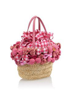 【CHECHE NEWYORK ピンク  天然素材3Dリボントート】  こんなにたくさんのリボンがついたバッグ見たこと、ないですよね!  TOP OF ラブリーかごバッグです!  http://glamour-sales.com/preview/product/74284/9AcCYgtq6