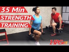 35 Min Strength Training for Women & Men at Home - Weight Training Workouts for Men & Women - YouTube