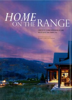Arrigoni Woods - Colorado Mountain home project featured in Rustic Country Magazine, Winter 2015