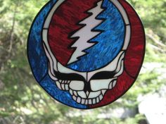 Steal your Face grateful dead inspired Stained Glass. Starting at $350 on Tophatter.com!