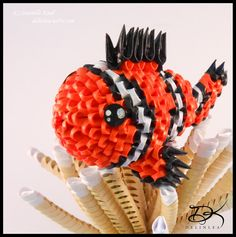 ClownFish -3D Origami- by Daantjuh-3DO.deviantart.com on @deviantART