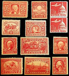#301-#C65 Nice Reds Lot 1901-62 Fresh VF *MNH* 12 items - Browse 1500 Classic Stamps on Sale LittleArtTreasures.com or http://stores.ebay.com/Little-Art-Treasures