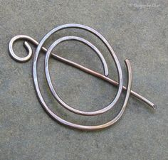 Convertible Spiral Shawl Pin Brooch Hand Forged by DesignsbyCher, $18.00