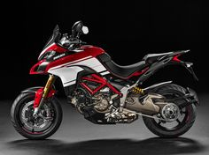 The 2016 Ducati Multistrada 1200 Pikes Peak makes us weak in the knees. Checkout these high-resoltuion images of the adventure-sport motorcycle. Moto Ducati, New Ducati, Ducati Motorcycles, Pikes Peak, Ducati Multistrada 1200 S, Trail Motorcycle, Ducati Monster, Lady Biker, Street Bikes