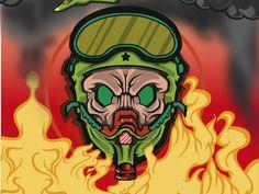 Aero skull for brand oranguthan store fire skulls graphicsdesigner branding art vector illustration Saint Charles, Silver Spring, Store Design, New Work, Branding, Skulls, Illustration, Behance, Fire