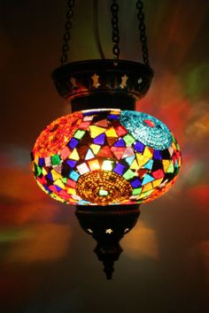 LARGE TURKISH MOROCCAN MOSAIC HANGING LAMP PENDANT LANTERN LIGHTING LAMPSHADE | eBay
