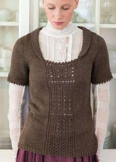 Walking Out Eyelet Panel Blouse - Media - Knitting Daily