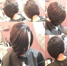 64 Wavy Bob Hairstyles That Look Gorgeous And Stunning - Hairstyles Trends Quick Weave Hairstyles, Wavy Bob Hairstyles, Braided Hairstyles, Short Sassy Hair, Girl Short Hair, Short Hair Cuts, Love Hair, Great Hair, Gorgeous Hair