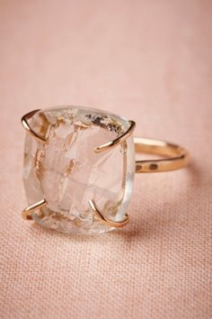 Melissa Joy Manning clear Slice of Sky Ring | BHLDN