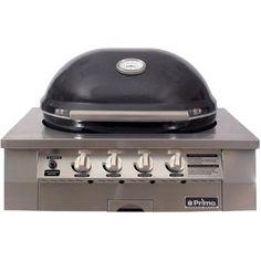 666da52f7da Primo Oval G420 36-Inch Ceramic 4-Burner Built-In Kamado Natural Gas Grill