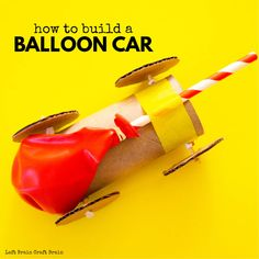This toilet paper roll balloon car is a fun STEM challenge using recyclables! It's a perfect budget-friendly engineering activity for the classroom, homeschool, and scouts. Kids will learn about simple machines and the science of forces and motion. Balloon Cars, Paper Balloon, Paper Car, Balloons, Steam Activities, Craft Activities For Kids, Indoor Activities, Summer Activities, Family Activities