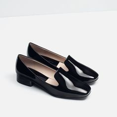 Image 3 of PATENT FINISH FLAT SHOES from Zara