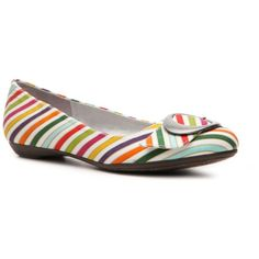 Dr. Scholl's Habit Stripe Flat ($50) found on Polyvore