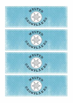 Greatfun4kids: Melted Snowflakes free printable water bottle labels
