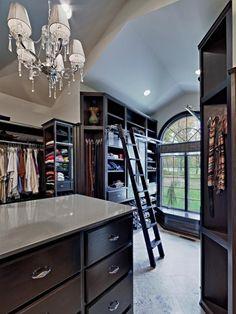 Ladder for master closet