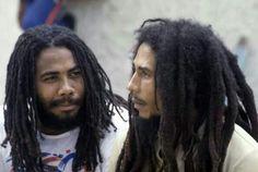 *Jacob Miller* & Bob Marley. After show event, Reggae Sunsplash I,