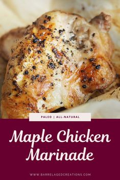 A traditional, asian inspired, killer maple chicken marinade recipe with the new taste of bourbon barrel aged maple syrup. Whole Chicken Marinade, Chicken Marinade Recipes, Chicken Marinades, Beef Recipes, Healthy Recipes, Fall Recipes, Healthy Meals, Holiday Recipes, Cooking Recipes