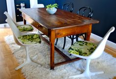 sfgirlbybay dining room. love the modern chairs with the wood table