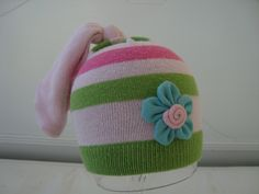 Preemie / Newborn Cotton Candy Droop Hat by tracywhaley08 on Etsy. $10.00 USD, via Etsy.