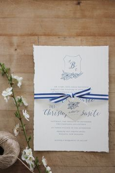 Just My Type Wedding Invitation and Wedding Stationery Design NZ French Rustic…