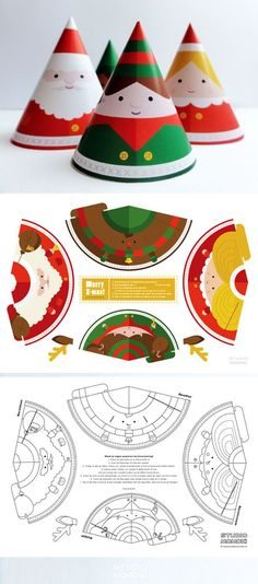 Make your own paper toy christmas decoration!