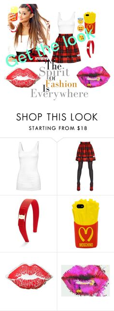 """Style steal# Ariana grande"" by kristinageorgieva ❤ liked on Polyvore featuring Fat Face, Philipp Plein, Salvatore Ferragamo, Moschino and Kess InHouse"