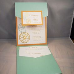 wedding invite - I like the style - not the color or anything.