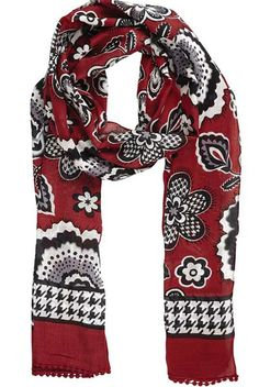 Carmine Scarf, part of the Bella Taylor Collection by Victorian Heart.  Playful pom- c06cee11ea