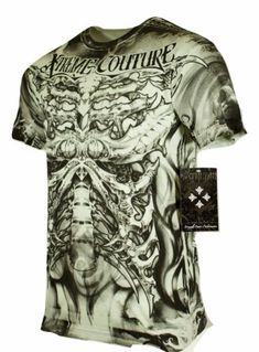 5aceda57 Details about XTREME COUTURE by AFFLICTION Men T-Shirt DELTA FORCE Tatto  Biker MMA UFC $40