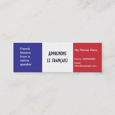 Shop Teaching French Language -- Advertising Cards created by StarBrightNights. Teacher Business Cards, Study French, Language Lessons, Personalized Note Cards, Teaching French, French Language, Advertising, Names, Student