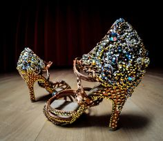 These are simply to die for! So gorgeous and elegant! | Custom Stoning | VEdance - The very best in ballroom and Latin dance shoes and dancewear.