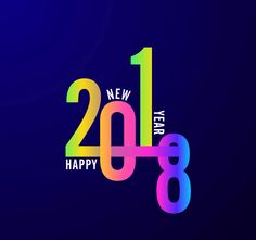 Happy New Year 2018 Tech Photo
