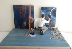 Jasper Johns in his studio1963  Artists at Work