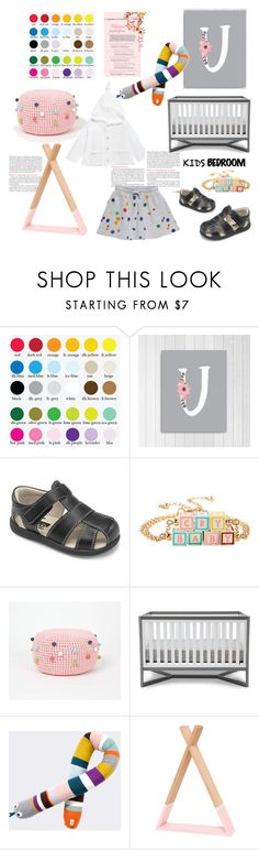 """""""Kids bedroom"""" by thestyleartisan ❤ liked on Polyvore featuring interior, interiors, interior design, home, home decor, interior decorating, See Kai Run, Hot Topic, STELLA McCARTNEY and ferm LIVING"""