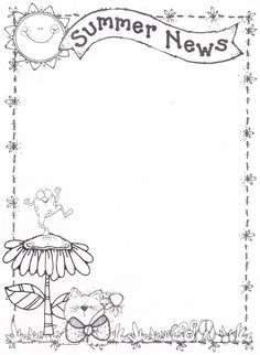 Foto: Borders For Paper, Borders And Frames, Coloring Books, Coloring Pages, Dj Inkers, Paper Clip Art, Notebook Cover Design, Cute Borders, Kids Math Worksheets