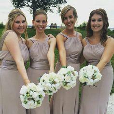 Biscotti Colored Bridesmaid Dresses Fashion