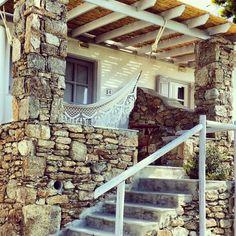 Grande Suite terrace at San Giorgio Mykonos Hotel Mykonos Hotels, Mykonos Greece, San Giorgio Mykonos, Firewood, Terrace, Pergola, Arch, Outdoor Structures, Garden