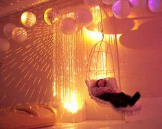 Luminous Snoezelen room.