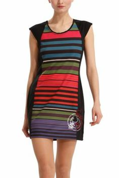 Desigual women's Tamy dress. Pinafore dresses are a real revolution. Zip fastening at the back. Slim fit.