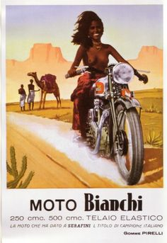 Free Ridin' : Let'm air out #boobs #posterart #vintageposters #vintage #moto #girls