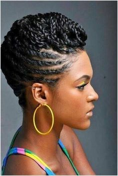 mohawk updo with twists