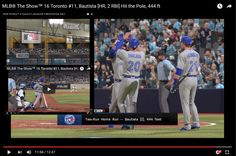 MLB® The Show™ 16 Toronto #11, Bautista [HR] Hit the Pole, 444 ft