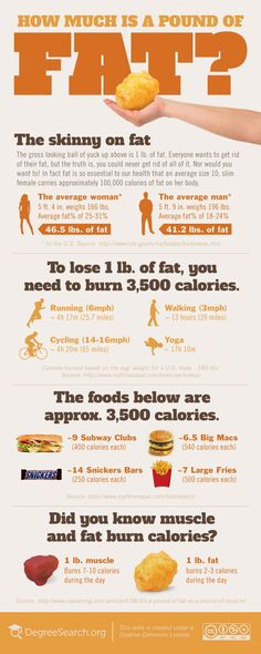 Follow Us: www.facebook.com/ACEYourselfHealthy How Much is a Pound of Fat Infographic