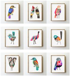 Jason and I were recently going through our folio of bird paintings and illustrations, and we had no idea we have so many.  It was like fin...