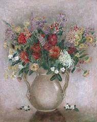 Título :Jarro com flores Artista :Annita Catarina Malfatti - Anita Malfatti - Anita Malfati Técnica :Óleo sobre Tela Dim. :65 x 50 cm