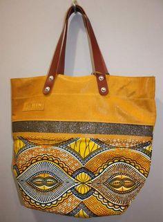 ESTELLON Sac en cuir jaune modele Shuka Massai Zaire